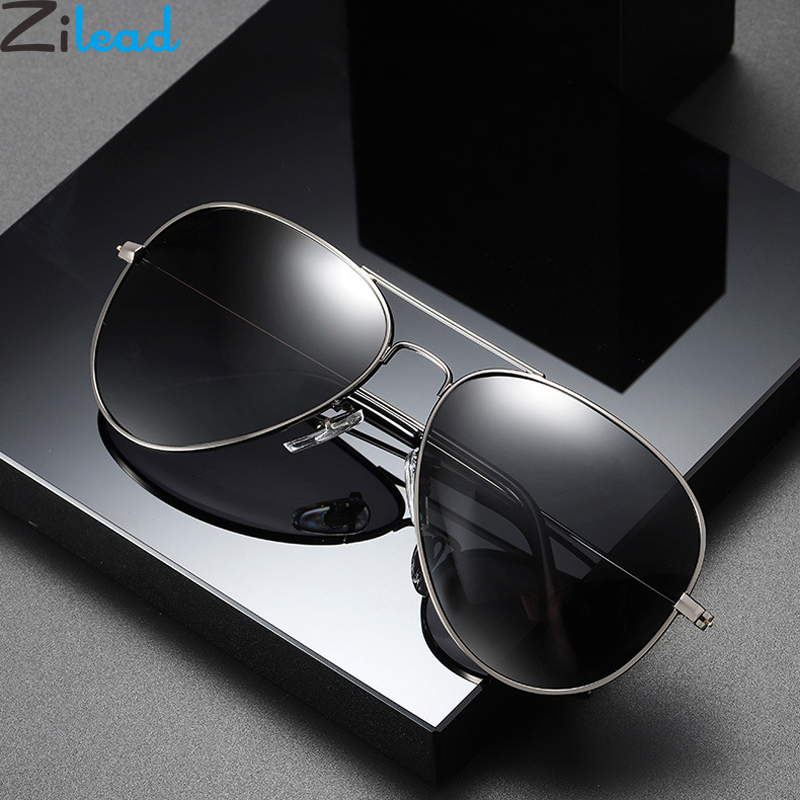 Zilead Pilot Bifocal Reading Glasses Sunglasses Metal Male Business Presbyopic Eyeglasses Hyperopia Eyewear Wite Case+1.0to+3.5