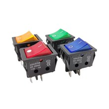 Welding-Machine Oven-Heater-Switch Electric KCD4-201N-B Yellow-Light with Red Blue Green