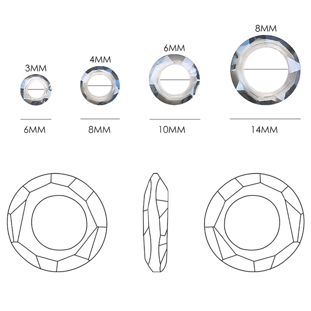 Wholesale Large Hole Bead Spacer 6/8/10/14mm Big Hole Crystal Glass Round Beads For Jewelry DIY Making Needlework Accessories 2