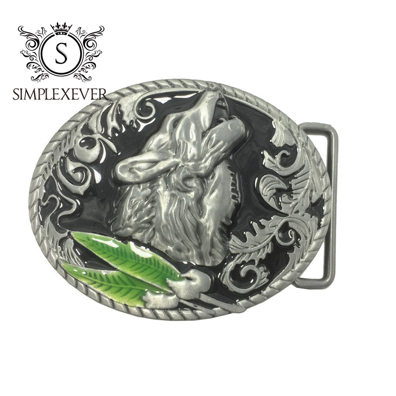 Wolf Metal Cool Belt Buckles For Man Unisex Western Fashion Buckle Cowboys Cowgirls Belt Buckle Drop Shipping