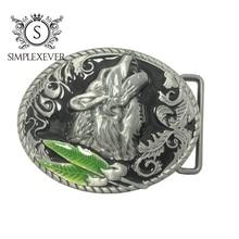 Волк металл прохладный пряжки для мужчин Мужская западная мода пряжки ковбои скотницы груза падения