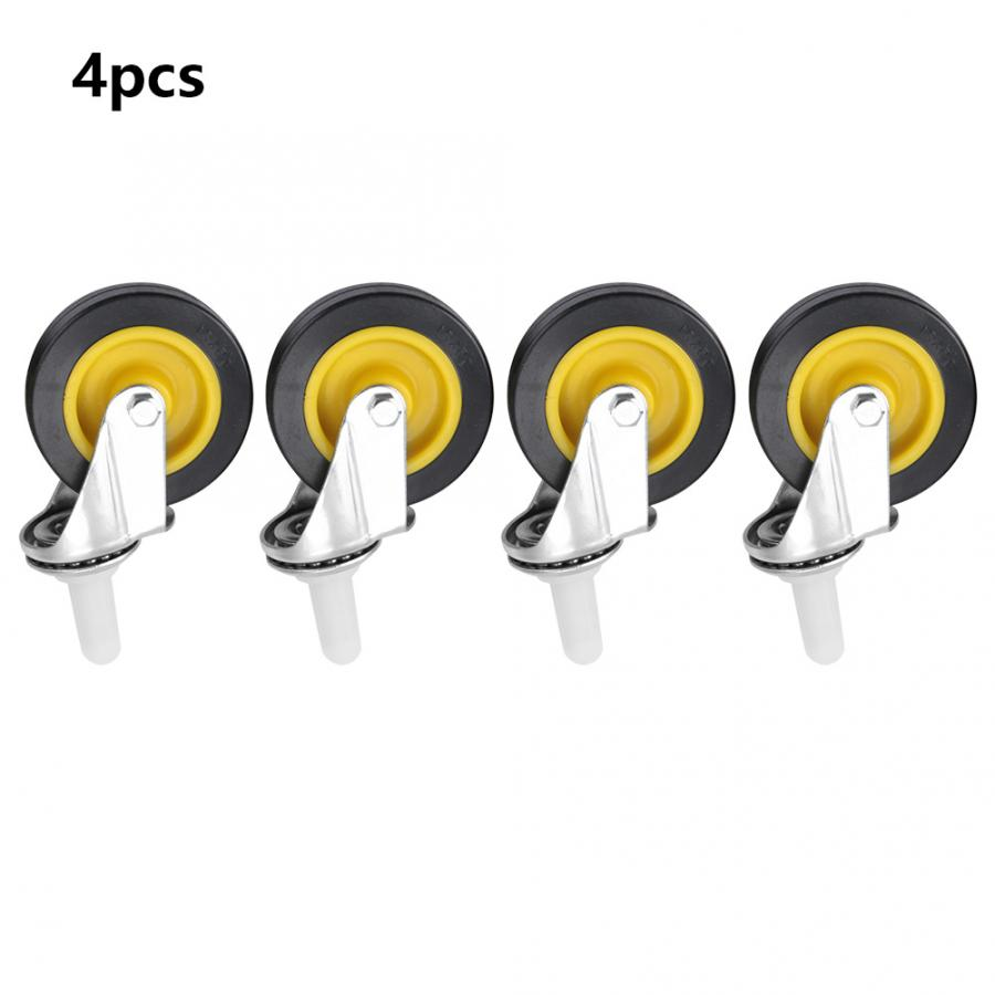 Furniture Wheels 4pcs 3 quot Ultra quiet rubber wheel brake cabinet furniture casters brake wheel with screw in Casters from Home Improvement