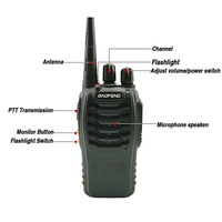 bf 888s שני הדרך 2pcs Baofeng BF-888S Portable מכשיר הקשר UHF שני הדרך רדיו כף יד Ham Radio HF משדר BF 888S רדיו Comunicador Uniden (2)