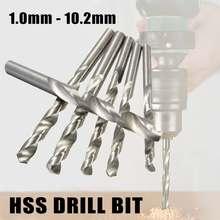 1PCS 1mm - 10.2mm Cobalt Drill Bit HSS High Speed Steel Straight Shank Twist Drill Bit Power Tools For Metal Wood Working