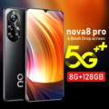 Nova8 Pro 6.8 Inch Global Version Smart Android Phone 8+256G Camera 24MP+48MP 6500Mah Lithium-ion Big Battery Smart Phone
