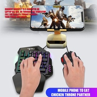 V100+A907 for PUBG Keyboard Mouse Set 35 Keys Mini USB Wired Keyboard+ Mouse Gaming Gift for Laptop PC Notebook Desktop