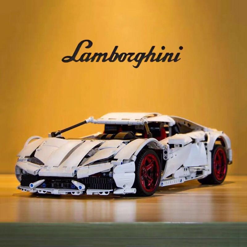 1696Pcs Doublee  Building Blocks Cada Technic C61018 Super Racing Car Lamborghiniii Huracan LP 610 Children Toys Bricks