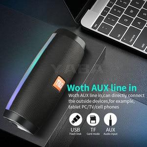Image 2 - LED مكبر صوت بخاصية البلوتوث قابل للنقل عمود مكبر صوت لاسلكي مقاوم للماء مكبر صوت لون رائع LED أضواء باس ثلاثية الأبعاد مكبر صوت ستيريو الكمبيوتر