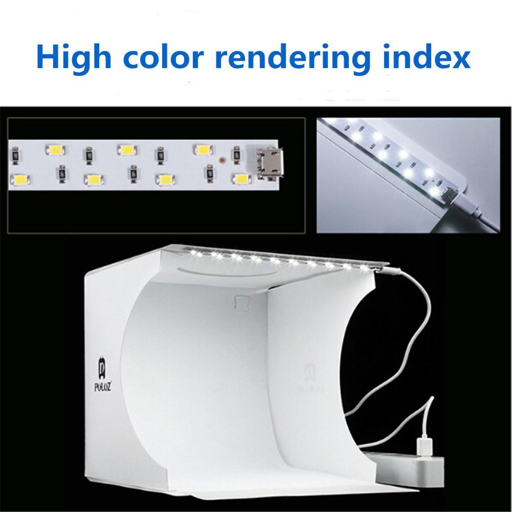 Mini Portable Folding Lightbox Photography Studio Soft Box LED Light Photo Soft Box For iphone DSLR Camera Background