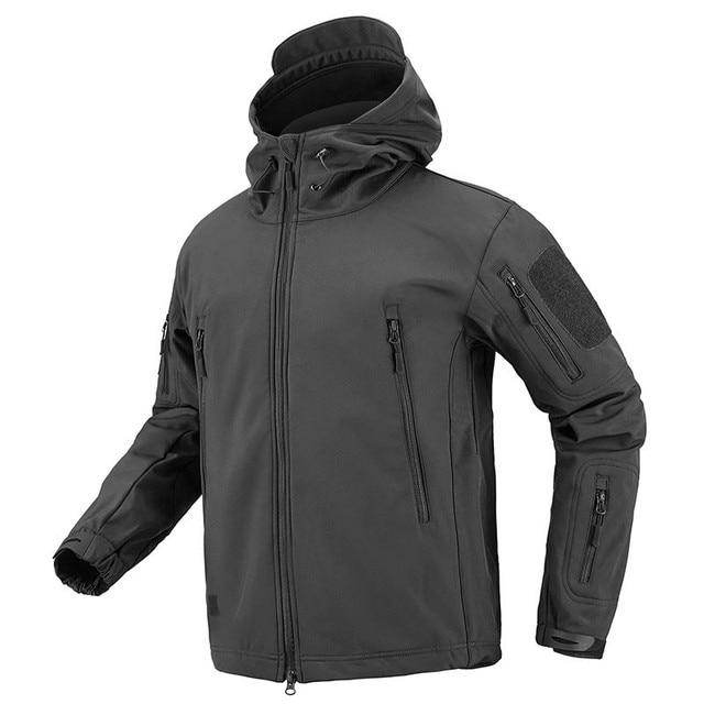 Shark Soft Shell Military Tactical Jacket Men Waterproof Warm Windbreaker US Army Clothing Winter Big Size Men Camouflage Jacket 5