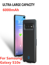Ultra Slim  6000mAh Extenal Power Bank Charging Cases  for Samsung Galaxy S10e Battery Case Portable Battery Charger Cover