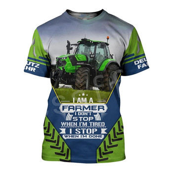 Tessffel Worker Farmer Tractor instrument Funny New Fashion 3DPrint Unisex Summer Casual Shorts sleeves T-shirts Mens/Womens A-3 1