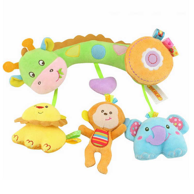 Chocalho brinquedos móveis para cama bebê brinquedo infantil 0-12 meses de suspensão de pelúcia bonito filhote de cachorro brinquedos recém-nascidos para crianças berço brinquedo móvel chocalhos