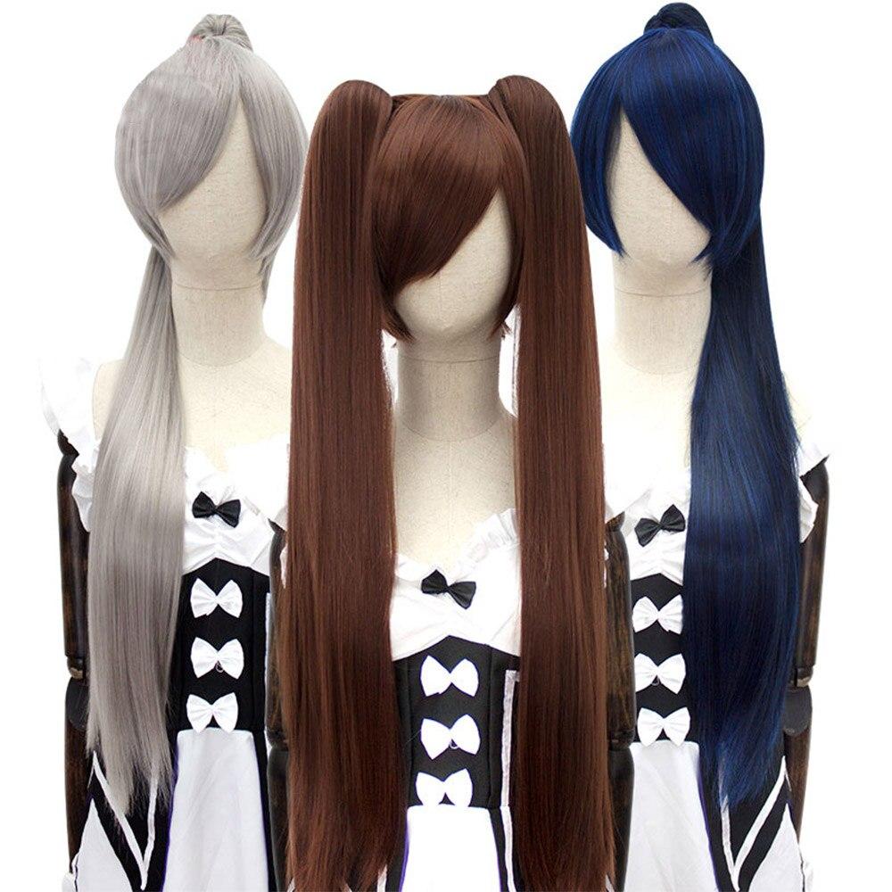 rabo de cavalo clipe cosplay lolita peruca