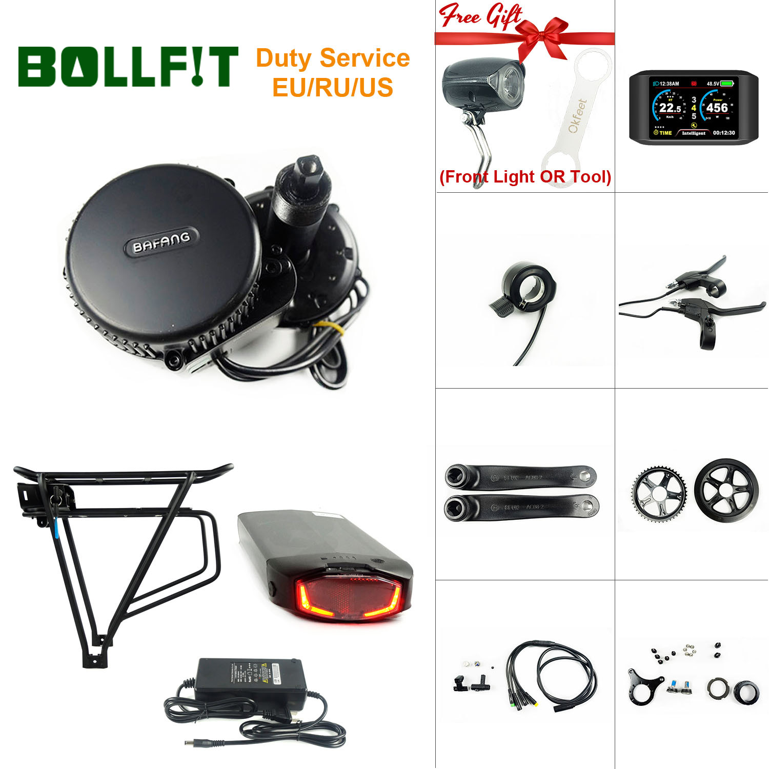 Bafang 8FUN BBS01 MMG340 <font><b>36V</b></font> 250W Mid Drive <font><b>Motor</b></font> Electric Bicycle Central Engine Ebike Conversion Kit With Battery Function image