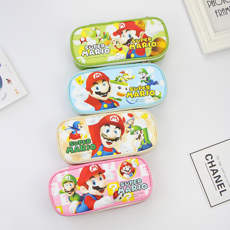 1pcs Super Mario Theme Party Decoration 7inch Plates Cups Napkins Banners Pencil Case Kids Boy Birthday Party Gift  Supplies
