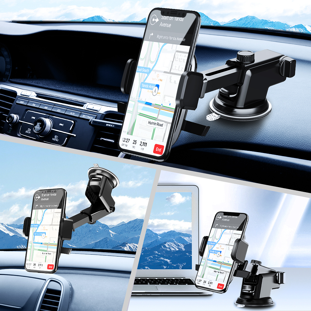 Silver 4333134136 MEIDI Windshield Mount Cellphone Holder Universal Dashboard Mount Windshield Mounting Brackets Car Magnetic Holder Vehicle Mount Holder with Telescopic Arm