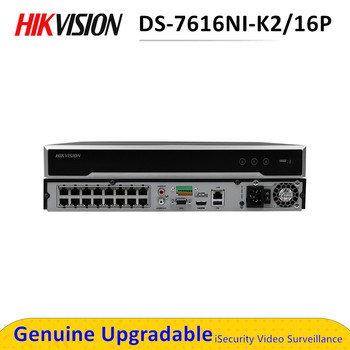 In stock International version DS-7616NI-K2/16P 16ch H.265 NVR 4K for up to 8MP cameras plug & play 2 SATA 16 POE