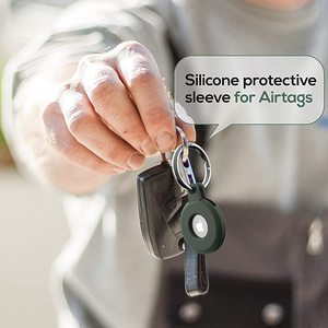 Image 4 - Protective Cover For Apple Airtag Case Silicone Protector Bumper Compatible With Tracker Buckle Airtags Keychain