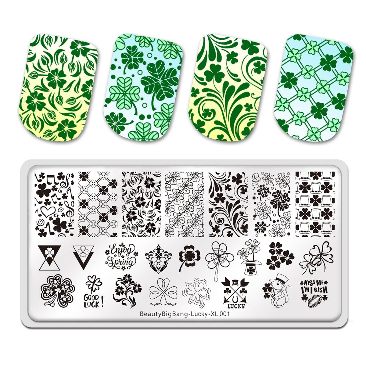 folhas tema sorte manicure arte do prego modelo de imagem