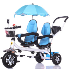 Stroller Tricycle Toddler Twins for Kids Guardrail-Seat Baby Car Child 3-Wheels
