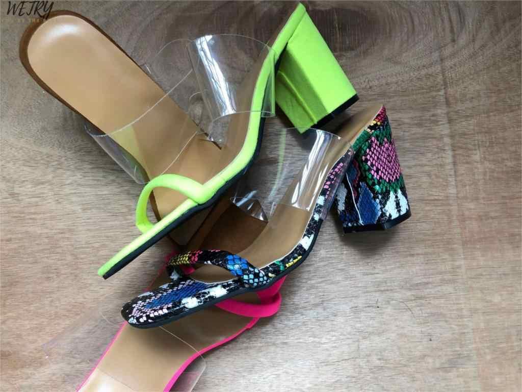 Yaz yeni terlik seksi 2019 moda sandalet kadın peep toe yüksek topuk kadın terlik sandalet üzerinde kayma boyutu 12 kadın ayakkabı