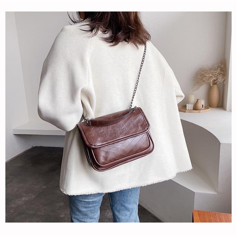 Leather Small Shoulder Messenger Bags For Women 2020 Trend Handbag Crossbody Bag Shape Mini Portable Single-shoulder Vintage Bag