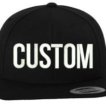 letter custom embroider hip hop baseball caps unisex adjustable customized snapb