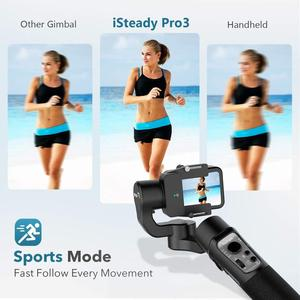 Image 4 - 3 Axis Gimbal Stabilizer for GoPro 8 Action Camera Handheld Gimbal for Gopro Hero 8,7,6,5,4,3, Osmo Action Hohem iSteady Pro 3