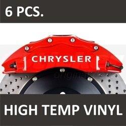 Para chrysler premium pinça de freio adesivos decalques 300c 300m concorde crossfire estilo do carro