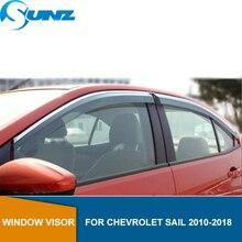 Side Venster Deflectors Voor Chevrolet Sail 2010 2011 2012 2013 2014 2015 2016 2017 2018 Zon Regen Deflector Guard Sunz