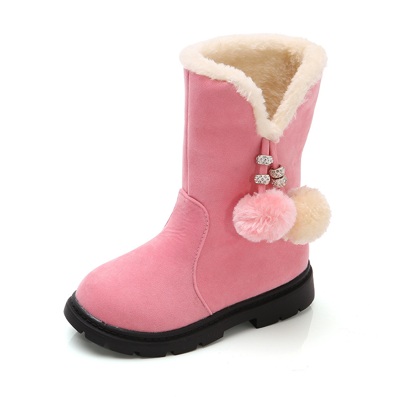 2019 Winter New Girls Boots Warm Cotton Boots Princess Long Children'S Shoes Kids In The Boots 3 4 5 6 7 8 9 10 11 12 Year Old