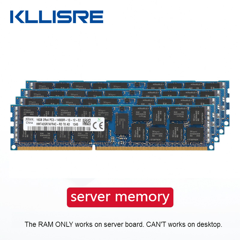 Memória do servidor do reg de kllisre ddr3 4 gb 8 gb 16 gb 32 gb ecc 1333 1600 1866 mhz ram dimm suporta x79 lga 2011 placa-mãe