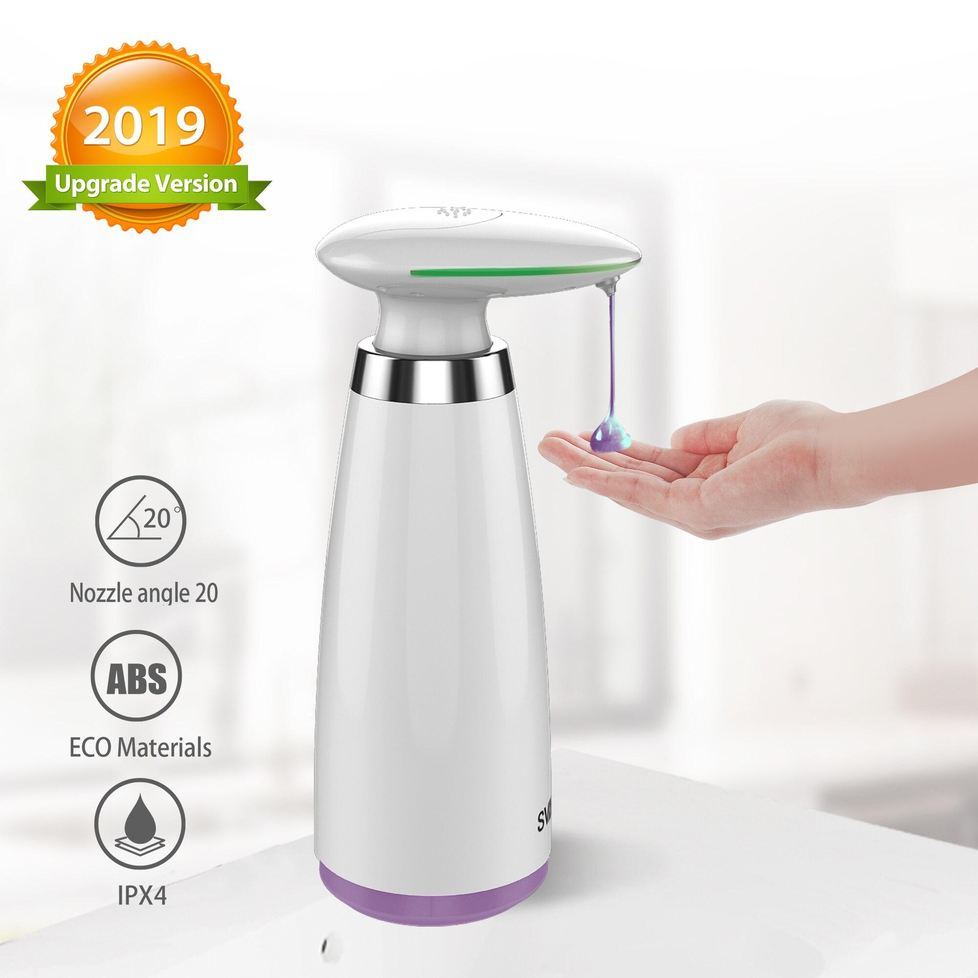 350ml Automatic Soap Dispenser Hand Free Touchless Sanitizer Bathroom Dispenser Smart Sensor Liquid Soap Dispenser For Kitchen