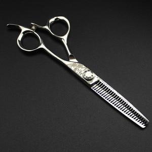 Image 3 - Aanpassen logo Damascus staal 6 inch kapsalon schaar snijden kapper makas gereedschap gesneden dunner schaar kappersscharen