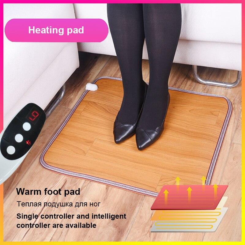 Нагревательный коврик для ног, теплые электрические нагревательные колодки, теплый коврик для ног, термостат, теплые инструменты для домашнего офиса, 3 размера Электрические грелки      АлиЭкспресс