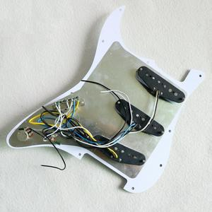 Image 5 - Prewired mint green ST Guitar Pickguard Assembly With Vintage DS53 Alnico guitar pickups in white and black colors