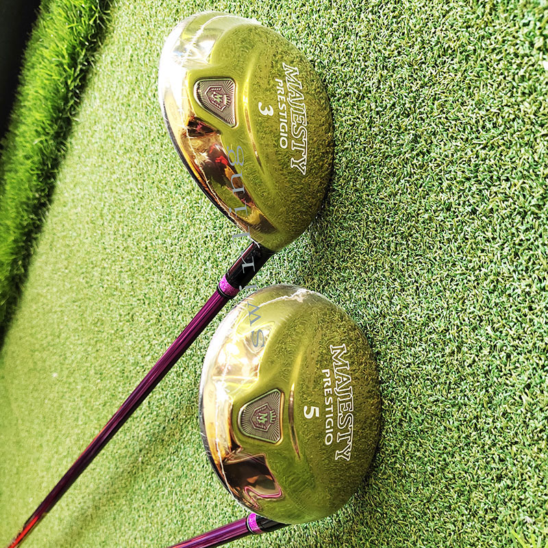 New Golf Club Maruman MajesticPrestigio 9 Women's Golf Fairway 3/5 Wood Graphite Shaft L Flex Swirling Free Shipping