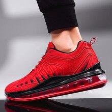 Almofada de ar moda tênis homem de alta qualidade sapatos casuais masculinos marca calçados masculinos sapatos casuais moda tênis para homem