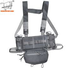 summer war game combat chest rig with ammo pouch adjustable size MK3 paintball vest army tactical