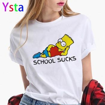 2020 New Summer Fashion Simpson Print Women tshirt Cartoon funny t shirts Harajuku T Hipster Streetwear Tops female