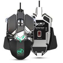 RGB 게이밍 마우스 6400 인치 당 점 고정밀 유선 USB 컴퓨터 마우스 마우스 게이머 9 키 프로그래밍 가능한 매크로 게임 마우스 마우스 정의