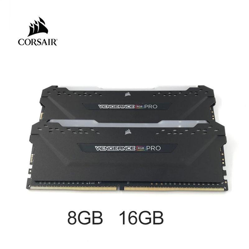 CORSAIR ذاكرة سطح المكتب ، DDR4 ، RGB PRO ، 8 جيجابايت ، 16 جيجابايت ، 3000 ميجاهرتز ، 3200 ميجاهرتز ، DIMM ، PC4