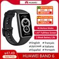 В наличии оригинал Huawei Band 6 Smartband 96 спортивный режим кислород в крови сердечный ритм фитнес-трекер Мониторинг сна Смарт 6