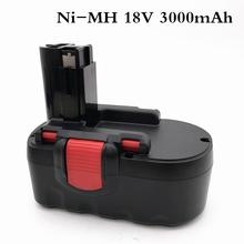 Dla Bosch 18 V 3000mAh BAT025 akumulator Abakoo Ni-MH elektronarzędzia Bateria do wiertarki GSB 18 VE-2 PSR 18VE BAT026 tanie tanio Limskey bat189 3000 mah Baterie Tylko