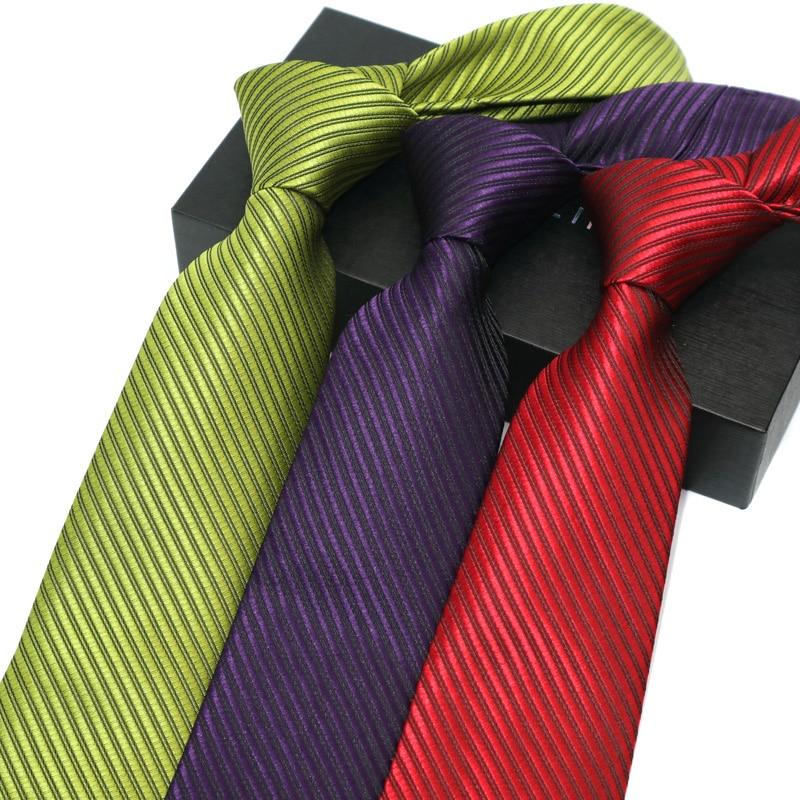 8CM Mens Ties  Jacquard Solid Gravata Corbatas Wedding Party Necktie Neck Ties For Men Neckwear Groom Formal Dress 12 Colors