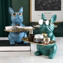 Cool Bulldog,Statue,Table Decoration,Fashion Sculpture,Home Room Decor,Multifunction,Desk Storage,Figurine Miniature,Coin Bank