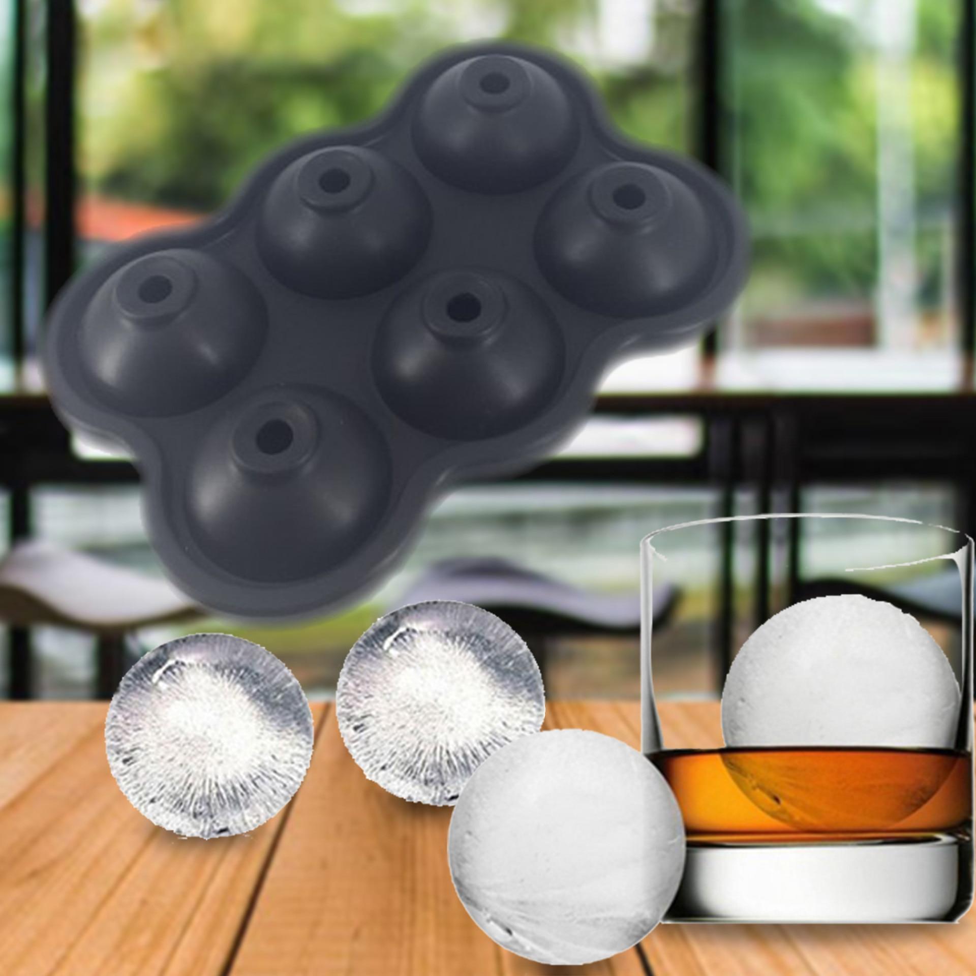 5 цветов 6 отверстий 4,5 см Диаметр Еда Класс Мягкие силиконовые Эко-дружественных полезные домашние поднос кубика льда мяч создатель прессфо...