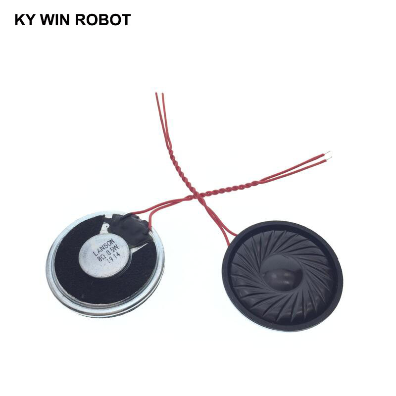 2pcs/lot New Ultra-thin Speaker 8 Ohms 0.5 Watt 0.5W 8R Speaker Diameter 30MM 3CM Thickness 5MM With Wire Length 6CM