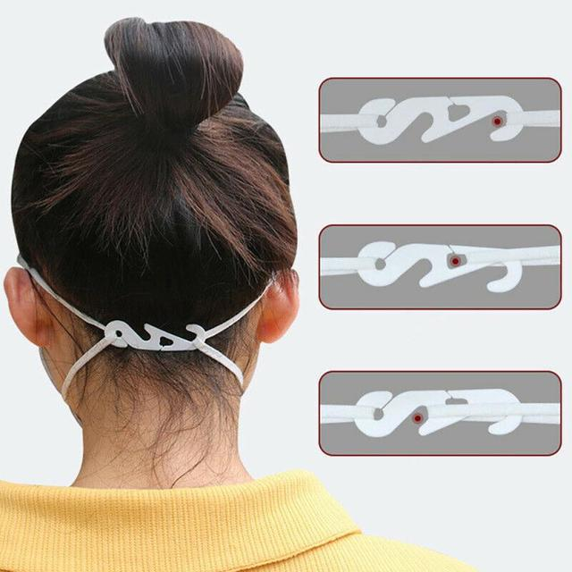 5Pcs Ear Buckle Face Mouth Wearing Relief Pain Ear Protector Adjustment DIY Ear Hook For Most Disposable Men Women Child Mask 2